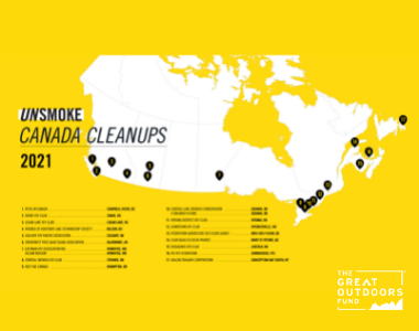 [Press Release] Unsmoke Canada Cleanups Program Grants $75,000 in Funding to Help Clean Up Canadian Communities