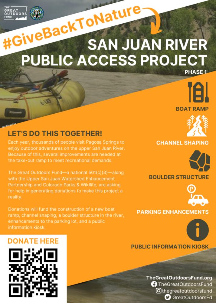 San Juan River Public Access Project_QR Poster